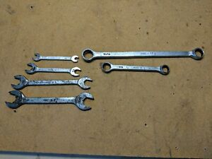 Early Vintage Mac Tools Double Open End Wrenches And Double Box End Wrench Lot
