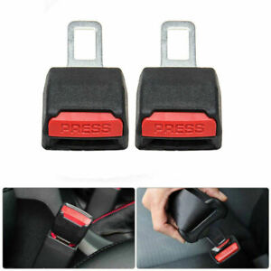 2 Piece Universal Car Safety Seat Belt Buckle Extension Clip Alarm Extender Usa