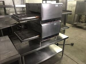 Double Electric Lincoln Impinger Conveyor Pizza Oven
