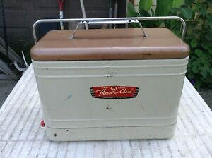 Vintage Knapp Monarch Therm A Chest Retro Metal Cooler W Plug Can Opener Tray
