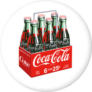 Coca-Cola 6 Pack Bottles Disc Decal 24 x 24 White Removable Decor