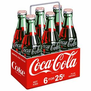 Coca-Cola Six Pack for 25 Cents Wall Decal Vintage Style Kitchen