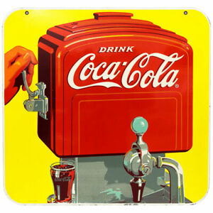 Coca-Cola Old Time Soda Fountain Wall Decal 24 x 23 Vintage Style Kitchen