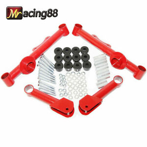 Red For 79 04 Ford Mustang Gt Lx Racing Rear Upper Lower Tubular Control Arms