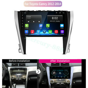 Quad Core 2 32gb Car Stereo Dvd Gps Player Radio For Toyota Camry 2012 2014 Bt