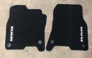 Used 2019 Dodge Ram Dt 1500 Crew Cab Oem Black Carpeted Front Floor Mats