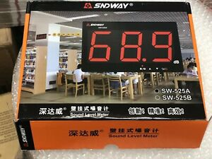 Sndway Sw 525a Digital Sound Level Meter 30 130db Large Screen Display