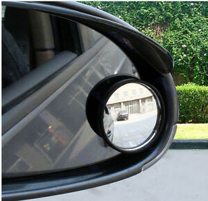 Car Vehicle 2pcs Driver Wide Angle Round Convex Mirror Blind Spot Rearview Auto