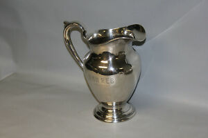 J E Caldwell Co Sterling Silver 4 1 4 Pint Pitcher 802 Grams 9 1 2 Tall