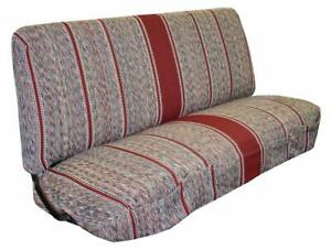 Saddle Blanket Seat Cover Truck Front Bench For Chevrolet Dodge Heavy Duty Red
