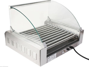 Commercial 30 Hot Dog 11 Roller Grill Cooker Machine Stainless Grilling New Hot
