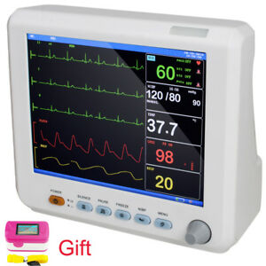 Portable Icu Bedside 8 Inch Medical Vital Signs Patient Monitor 6 Parameter gift