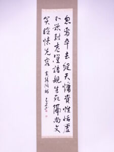 4300472 Japanese Wall Hanging Scroll Hand Painted Calligraphy