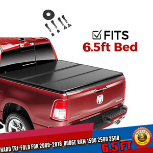 For 2009 Dodge Ram 1500 2500 6 5 Truck Bed Frp Hard Tri Fold Tonneau Cover