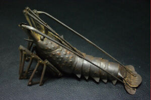 Jizai Okimono Myochin Spiny Lobster Antique Statue Used About 12 99 Inches
