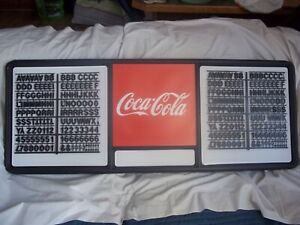 New 4ft Coca cola Menu Board W 2 Sets Of Coke Letters Numbers Symbols