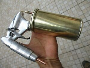 Vintage Art Deco 1950s Rare Or Unique Nice Spray Paint Gun In Brass