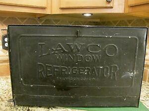 Rare Antique Lawco Window Refrigerator From F H Lawson Co In Ohio Lqqk