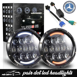 Dot Fit Mack Granite Cv713 7 105w Led Headlights W amber Turn Signal Lights