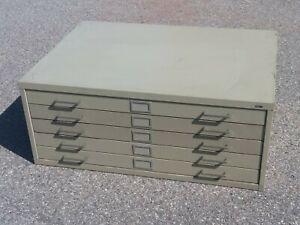 Safco 5 Drawer Flat File blueprint map Cabinet Used pick Up Only riverview Mi