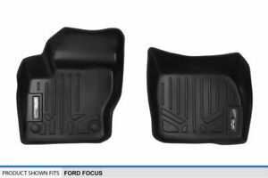 2012 2018 Ford Focus Floor Mats First Row Black Slush Tray Liners