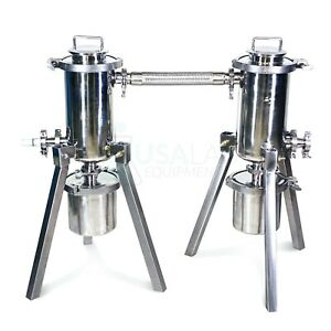 Usa Lab R 2 trap 2 Dual Stainless Steel Cold Trap Set up
