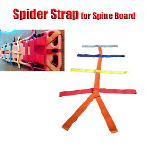 Backboard Color Coded Spider Strap For Spine Board Stretcher Immobilization