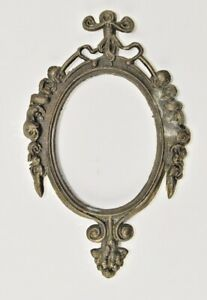 Vintage Small Ornate Oval Brass Picture Frames Made In Italy