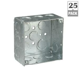 Steel City 2 gang 4 In 30 3 Cu In New Work Metallic Square Electrical Box Of