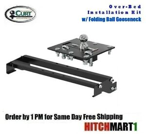 Folding Ball Gooseneck Hitch Installation Package For 2004 2013 Ford F150