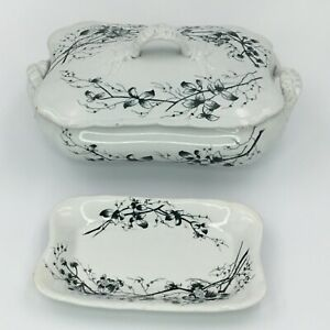 Turners Tunstall England Covered Tureen Bowl With Lid And Butter Dish