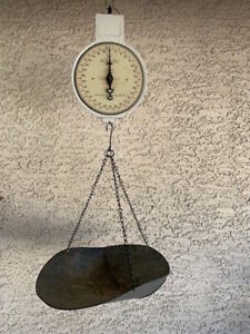 Vintage Antique American Family Scale 10 29 1912 Hanging Scale 60 Lbs Produce
