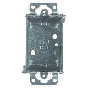 Steel City 1 gang Metal Old Work Electrical Switch Box case Of 25