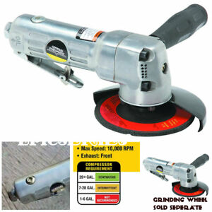 Air Angle Grinder Die Saw 4 In Shape Cut Metal 10 000 Rpm Sharpen Grinds Lever
