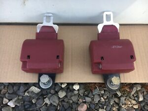 89 93 Dodge Truck Extended Club Cab Rear Retractable Red Seat Belts 92 91 1992