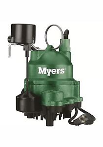 Myers 1 3 Hp Residential Sump Pump With Tether Float Switch