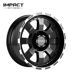 Impact 4 Pc Off Road Wheels 18x9 8x170mm 12mm Black Machine Edge