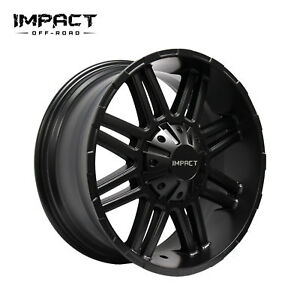 Impact 4 Pc Off Road Wheels 18x9 5x150mm 12mm Satin Black