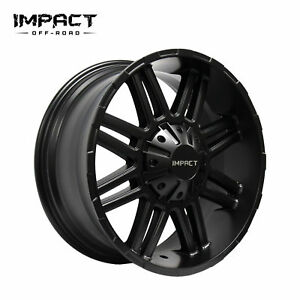 Impact 4 Pc Off Road Wheels 20x9 5x150mm 18mm Satin Black