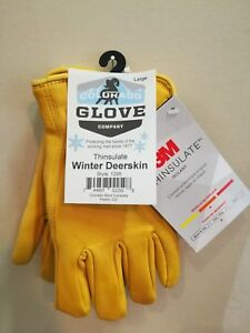 Colorado Glove Company Insulated Winter Lined Deerskin Work Gloves Leather 1295