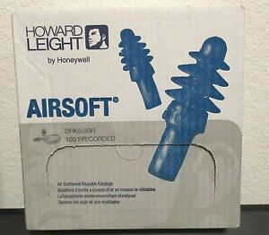 Howard Leight Airsoft Reusable Ear Plugs Model Dpas 30r Nrr 27 100 Pr corded