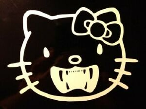 Hello Kitty Zombie Vampire Decal Sticker