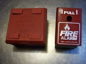 Fire Lite Pull Down Handle Station 12 30v And Wheelock Alarm Mt 12 24 Volt 75 Db