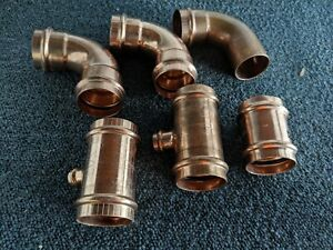 Viega 2 Propress Copper Tees 90 Elbows Coupling Lead Free Lot Of 6