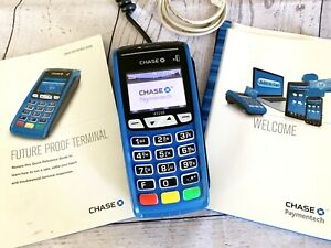 Chase Bank Credit Card Terminal chip Reader Ict 250 Complete