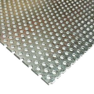 Galvanized Steel Perforated Sheet 0 034 X 12 X 12 3 32 Holes