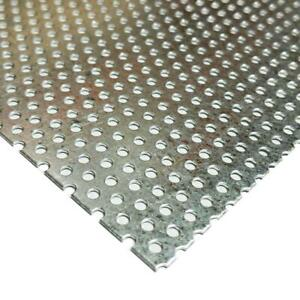 Galvanized Steel Perforated Sheet 0 034 X 24 X 24 3 32 Holes