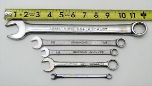 5 Piece Armstrong Assorted Combination Wrench Set