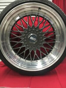 Bbs Wheels 19 Inch Replica Staggered Set With Tires