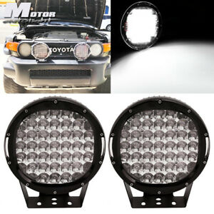 2x 9 185w Round Cree Led Work Light Off road For Jeep Jk Bumper Roof Vs 225w